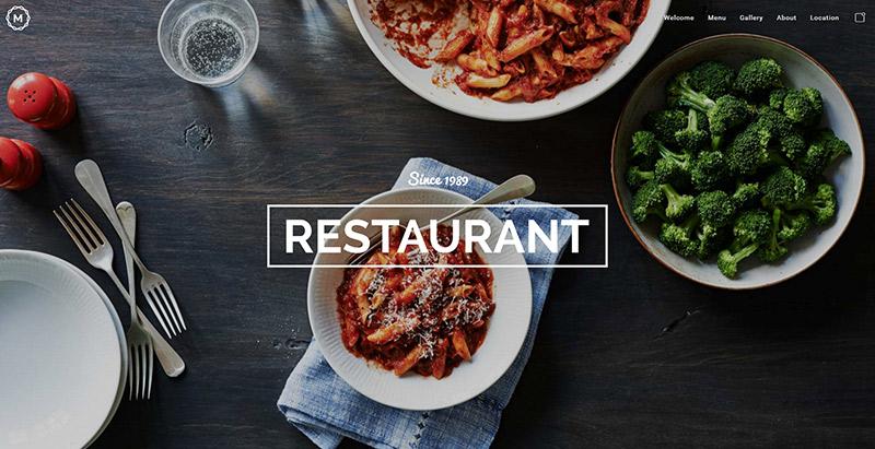 masiva-dinámico-theme-wordpress-crear el sitio Web-restaurante