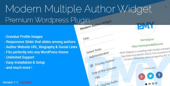 современный множественным автор-виджет-плагин-WordPress к другой