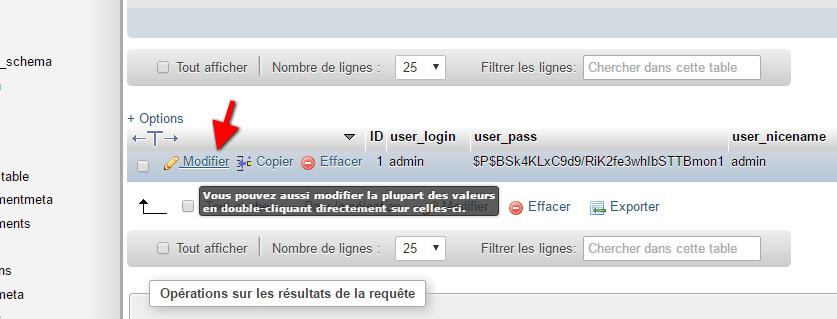 edit-a-kullanıcı phpmyadmin-wordpress-öğretici