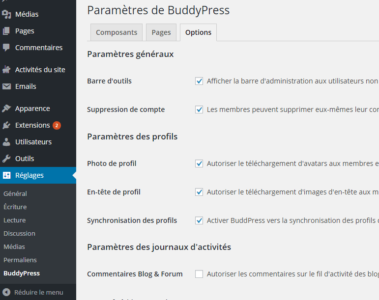 onglet-options-buddypress-plugin-wordpress