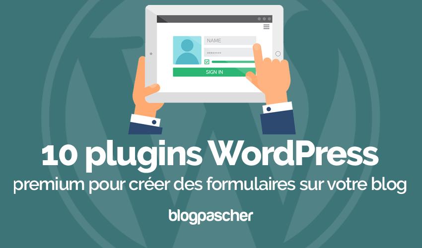 Plugin Wordpress Créer Formulaires Blog