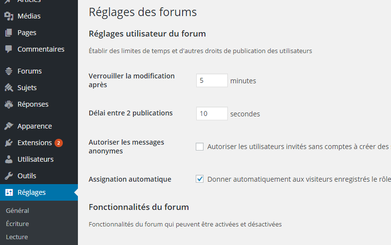 reglage-bbpress-plugin-wordpress-pour-forum
