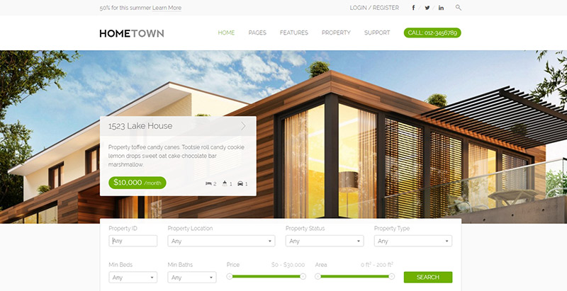 hometown-themes-wordpress-creer-site-web-louer-vendre-maisons-villa-appartement