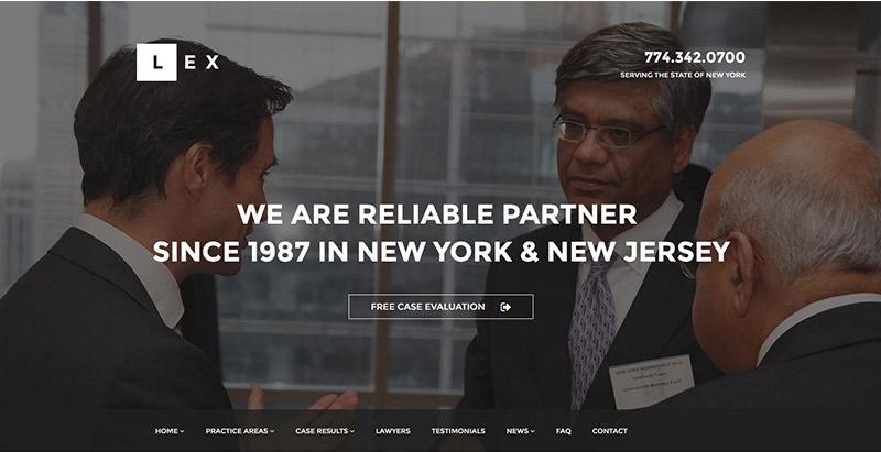 LEX-тема-WordPress создать сайт-интернет-фирма адвокатов-юрист-адвокат судья