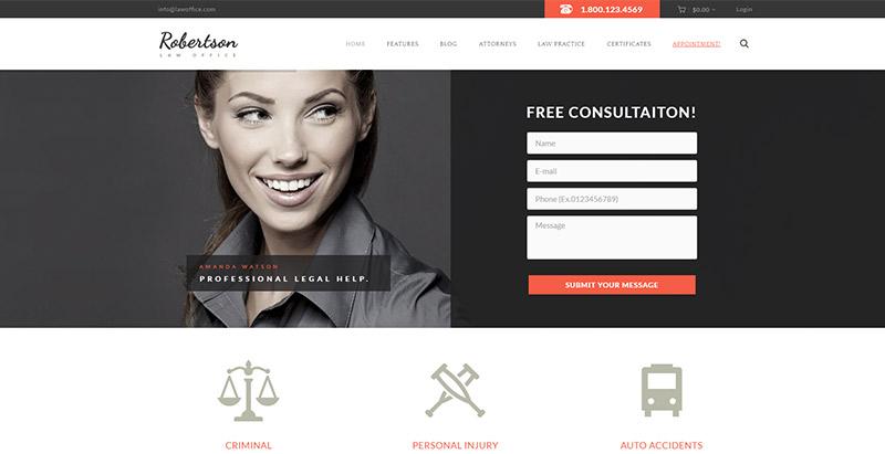 law-office-themes-wordpress-creer-site-internet-cabinet-avocat-juriste-procureur-juge