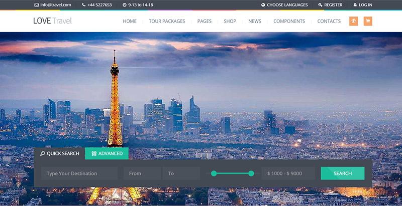 amor-travel-temas-wordpress-criar-web-site-tour-operador-agência-trips