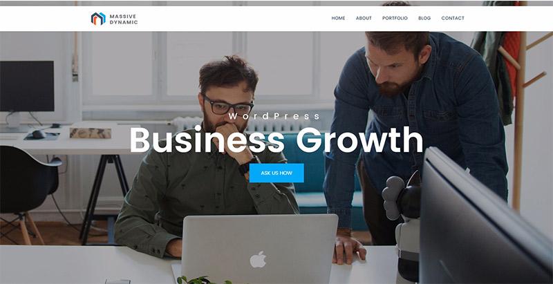 Massive dynamic 10 themes wordpress creer site web pme start up entreprise vitrine