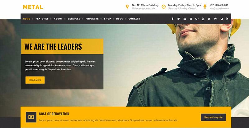 10 temas de WordPress para el sitio web de negocios para la ...