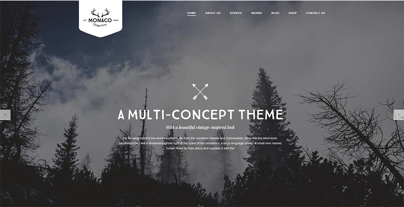 Monaco Themes Wordpress Polyvalents Creer Site Internet