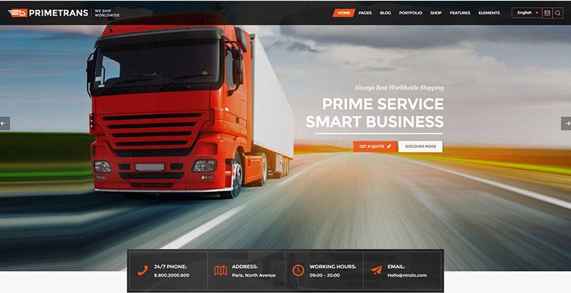 10 Thèmes WordPress Pour Créer Le Site Web D'une Entreprise De Logistique Et De Transport