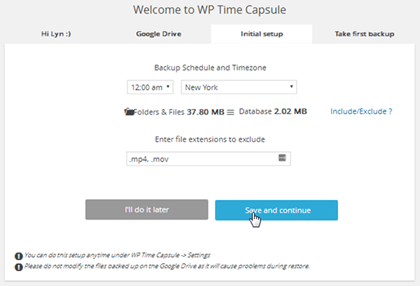save-and-continue-wp-time-capsule