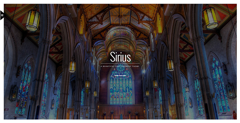 Sirius themes wordpress criar site photgraphe