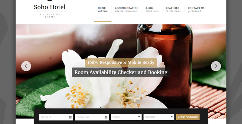 10 th mes wordpress pour cr er un site internet d 39 h tel for Site pour reserver un hotel