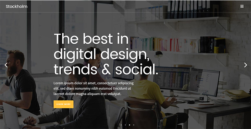 Stockholm Themes Wordpress Multi Usages Polyvalents Creer Site Internet