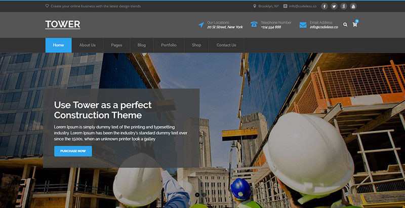 tower-themes-wordpress-create-site-internet-business-building