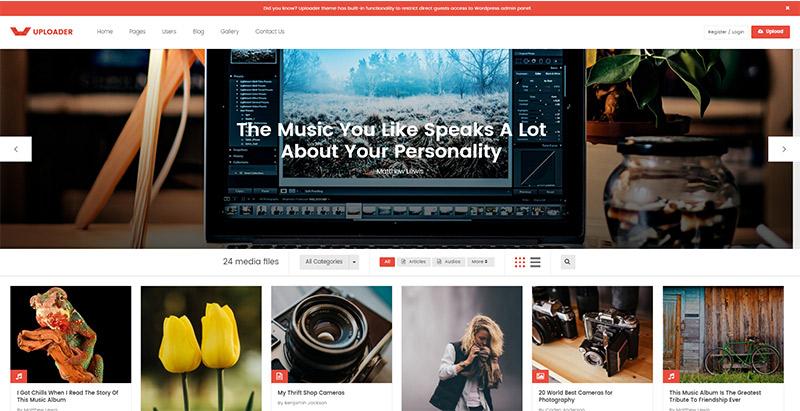 uploader-themes-wordpress-creer-site-internet-partage-contenu