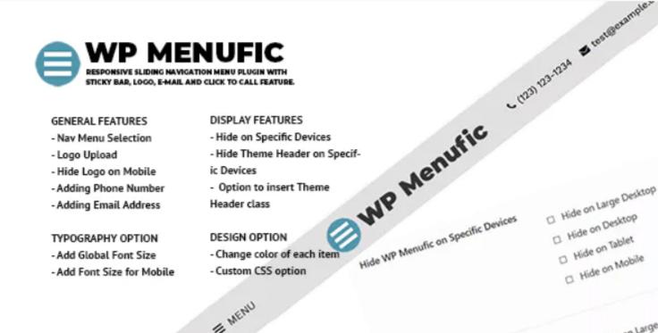 Wp menufic