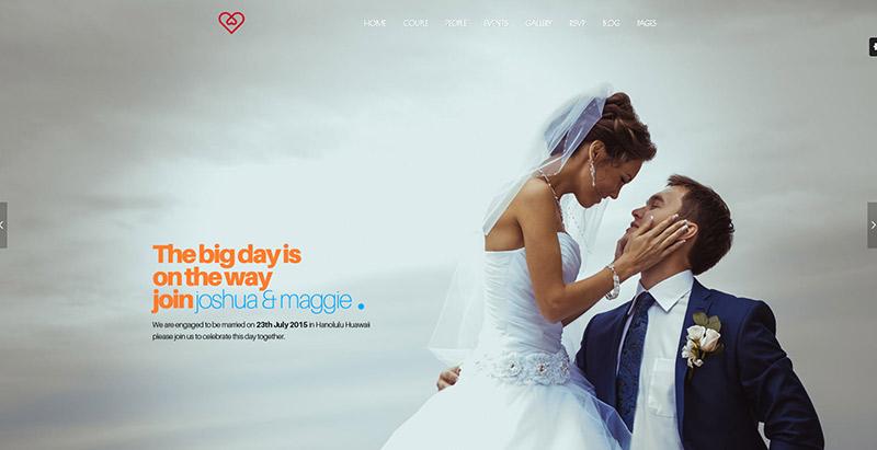10 temas de WordPress para las ceremonias de boda Página de Inicio ...
