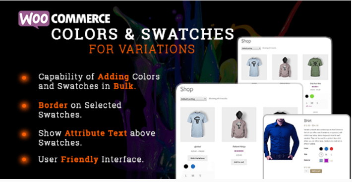 meilleurs plugins WooCommerce - Woocommerce colors and swatches for variations