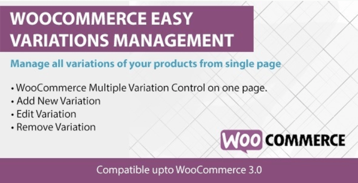 Woocommerce easy variations management 1