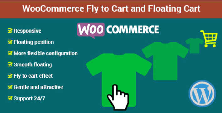 plugins WordPress pour améliorer le panier de votre site web -Woocommerce fly to cart and floating cart