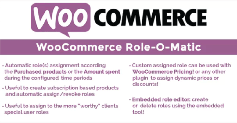Woocommerce role o matic plugin wordpress