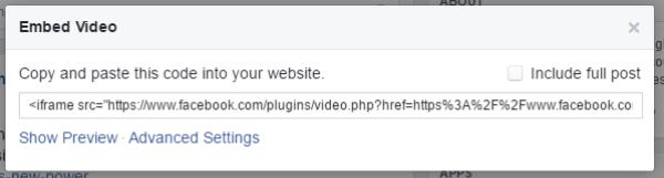 code-facebook integrato