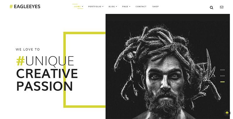 Eagleeyes themes wordpress creer site web photographe agence portfolio architecte