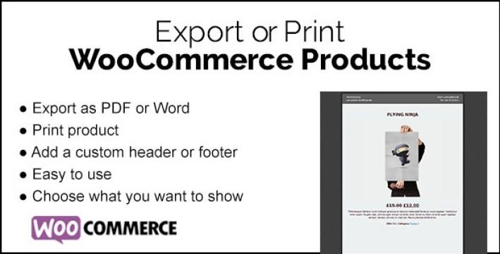 Woocommerce print products plugin wordpress pour impression