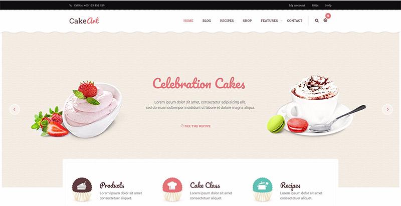 10 Temas de WordPress para crear un sitio web de panadería | BlogPasCher