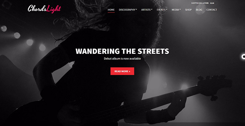 Chords themes wordpress creer site web musiques