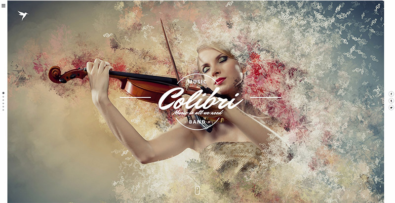Colibri themes wordpress site web photographe artiste
