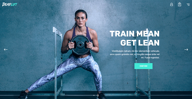 Deadlift theme wordpress ftness gym