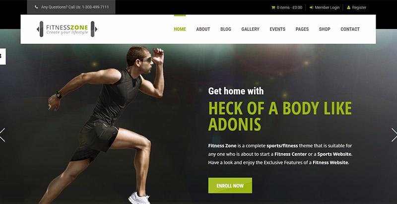 Fitness zone themes wordpress creer site web club sports fitness gymnase