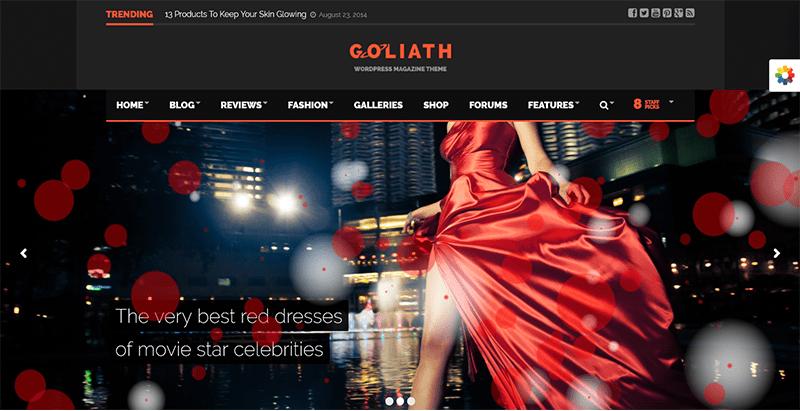 Goliath fashion responsive magazine