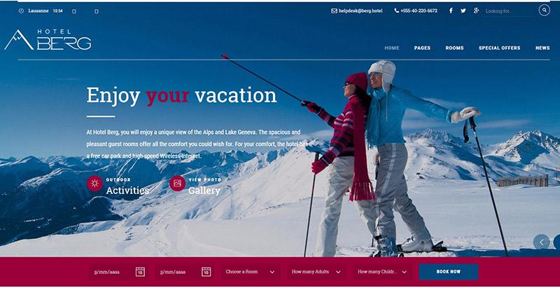 Hotel california theme wordpress creer site web hotel auberge motel