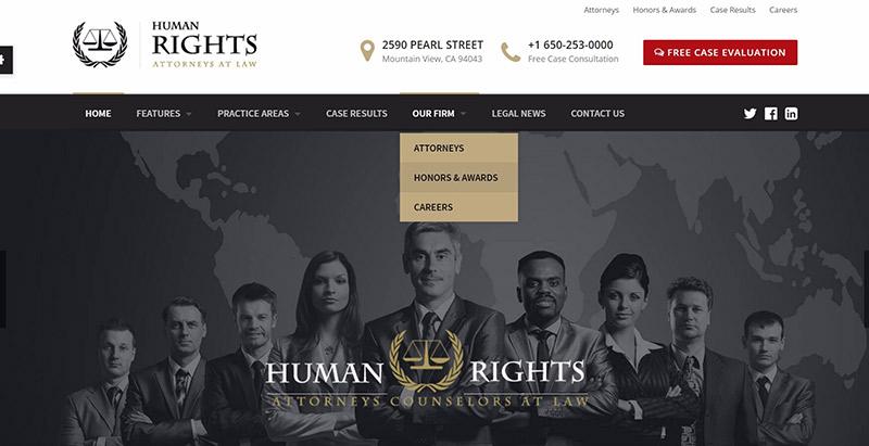 Темы прав человека wordpress создать сайт юриста