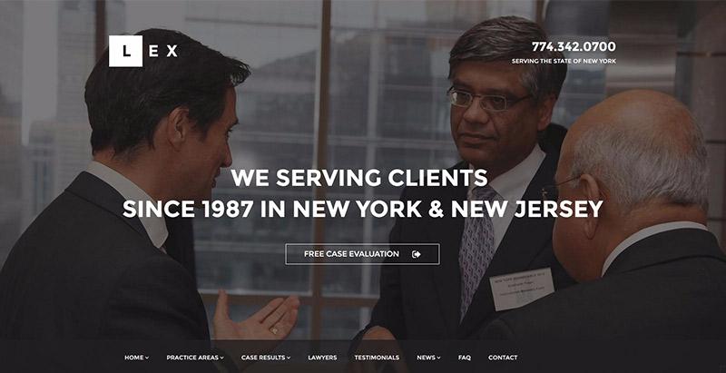 Lex themes wordpress creer site web avocat