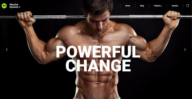 Massive dynamic themes wordpress creer site web club sports fitness gymnase