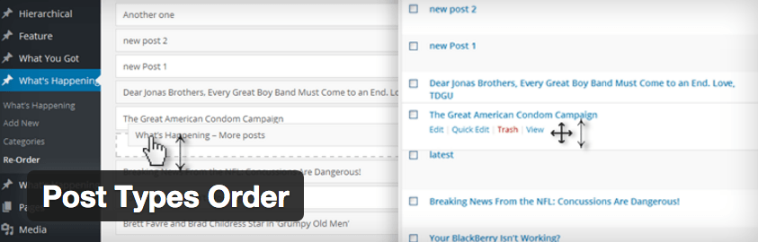 Post type order plugin wordpress