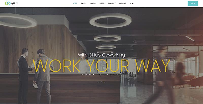 Qhub themes wordpress site web entreprises technologiques