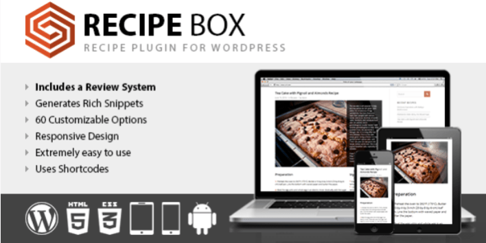 Recipe box recipe plugin for wordpress