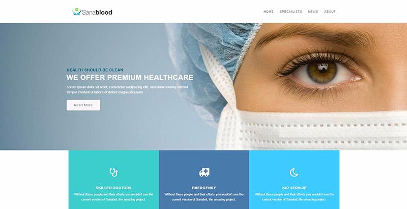 Temas de WordPress para crear un sitio web de hospital clínico ...