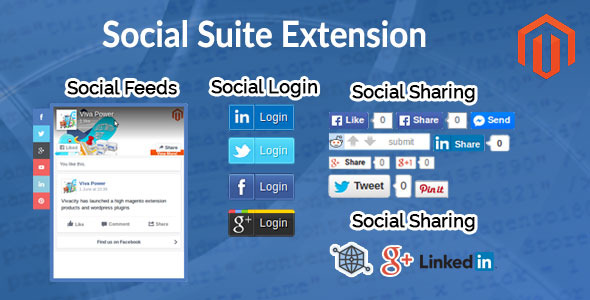 Social suite extension plugin magento pour partage social