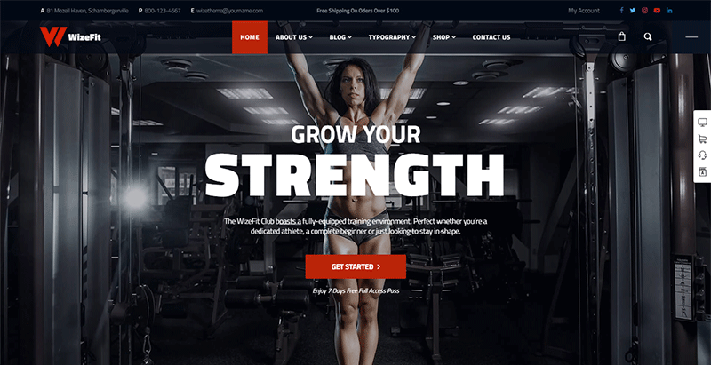 Wizefitness theme wordpress ftness gym