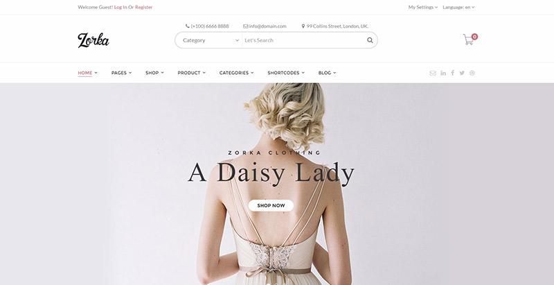 Zorka themes wordpress creer site web bijoutier joaillier