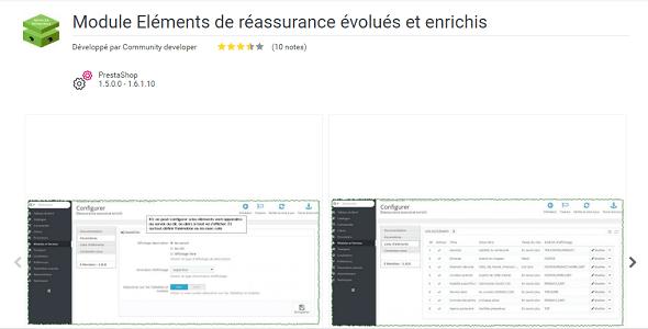 Advanced and enriched reinsurance elements plugin prestashop pour entête