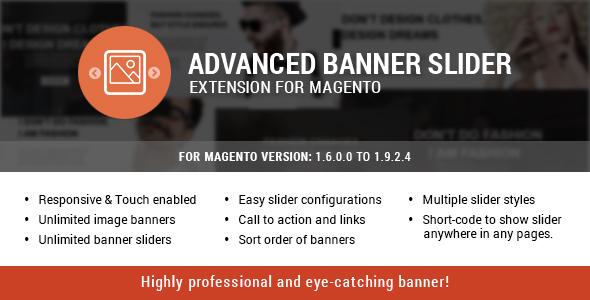 Advanced banner slider plugin magento pour partage sliders