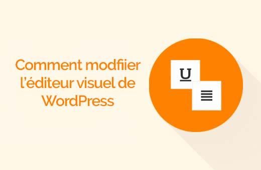 Comment ajouter les boutons de justification sur wordpress