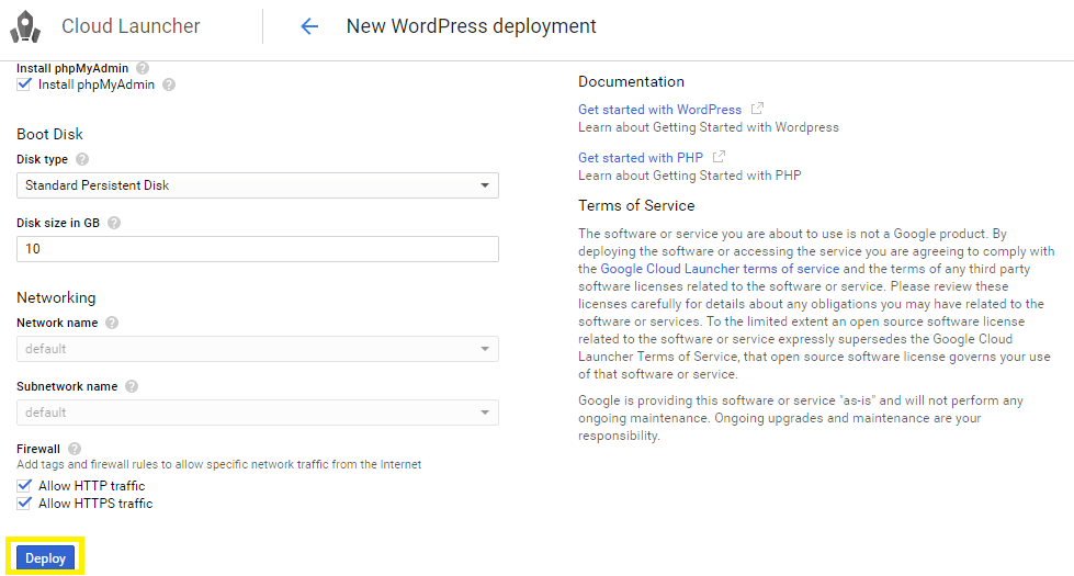 Deployer une application